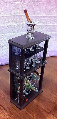 Barbie OOAK 1 6 Scale Wine Cabinet Furniture House Glasses Accessories | eBay