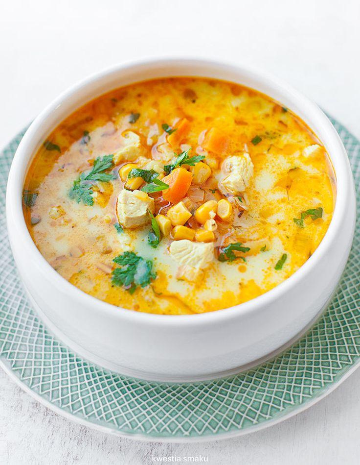 Zupa meksykańska z kurczakiem i kukurydzą