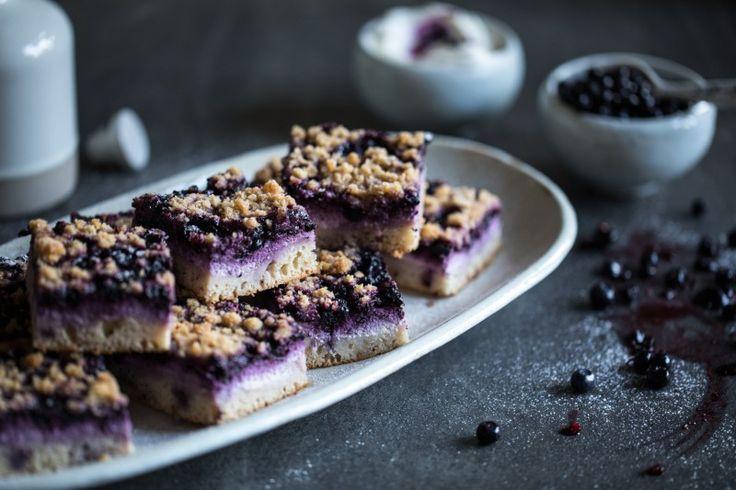 Borůvkový koláč s tvarohem