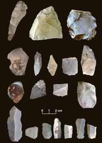 These artifacts were among nearly 16,000 stone flakes, projectile points and tools discovered at the Debra L. Friedkin archaeological site near Buttermilk Creek in Central Texas. Researchers are calling the find the oldest credible evidence of human settlement in North America.