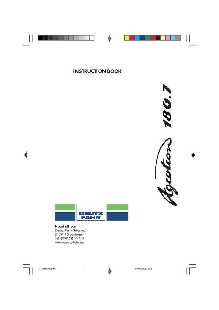 DEUTZ-FAHR AGROTRON 180.7 English User Manual PDF Download