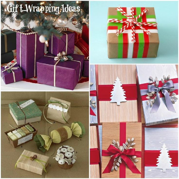 varias ideas de envolturas de regalos para navidad