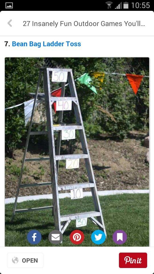 Bean bag ladder toss. Check store cupboard at church