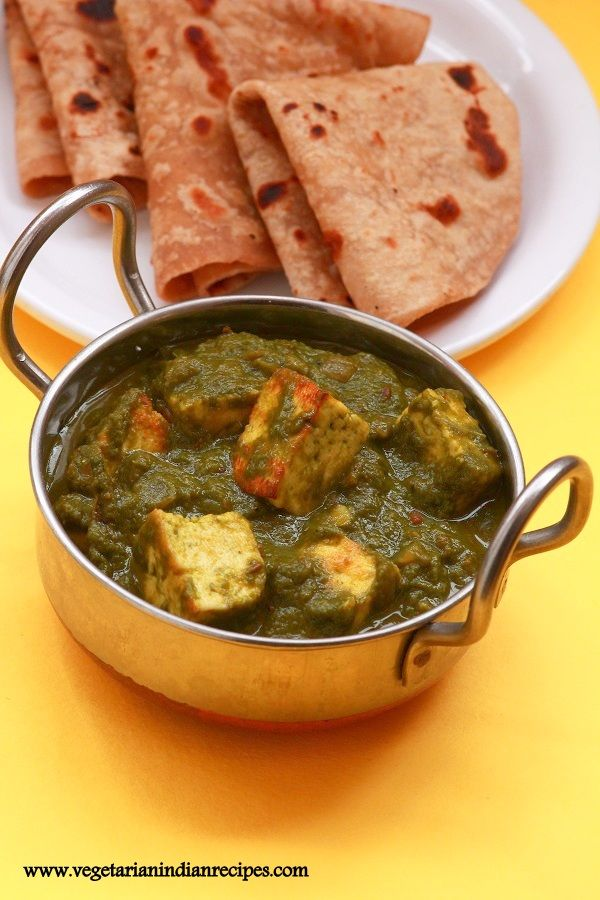 Palak paneer is a very popular Indian dish made with a combination of spinach (palak) and paneer (cottage cheese).  It can be served as a side dish for chapati, roti or paratha  #indianfood #food #vegetarian #sidedish #indian