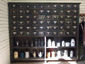 Large Apothecary Vintage Storage