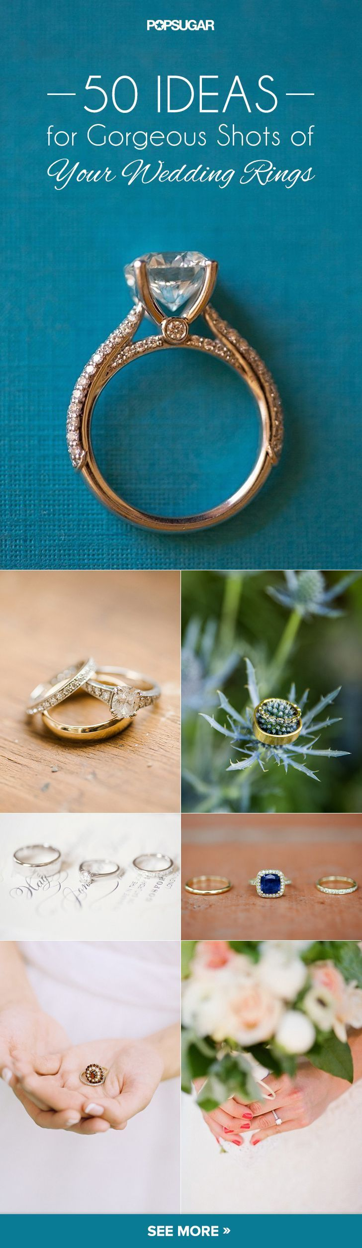 """The Wedding Ring Pictures You Have to Take on Your Big Day: photo ideas to take of your wedding bands before you say """"I do"""""""