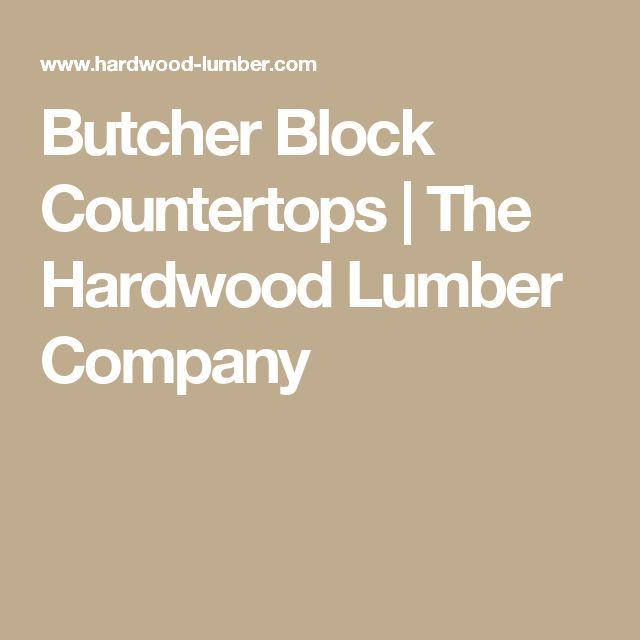 Butcher Block Countertops | The Hardwood Lumber Company
