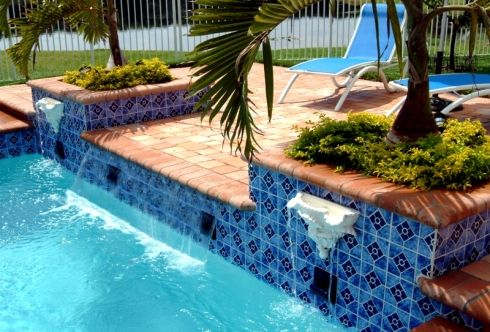 Best 25 pool water features ideas on pinterest pool - Swimming pool water feature ideas ...