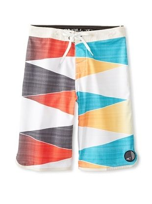 53% OFF O'Neill Boy's 8-20 Averted Board Short with Epic Stretch (Orange)