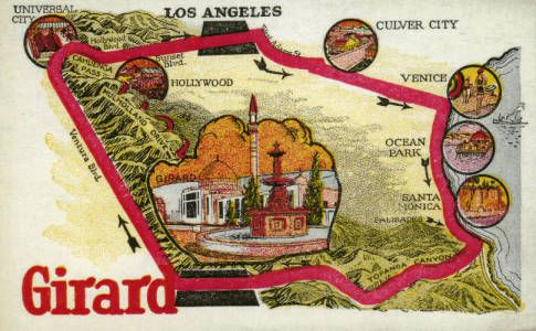 Facsimile of advertisement for the town of Girard, California, ca.1920s :: Library Exhibits Collection
