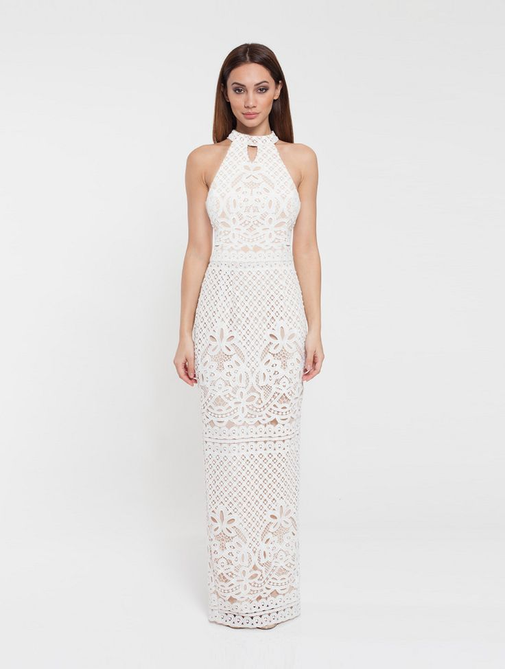 Romance The Label - Annabelle Maxi Halter White