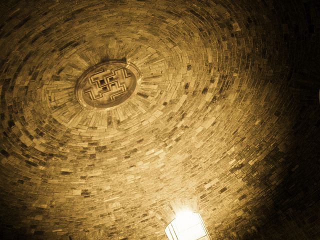 Swastika on the ceiling of the crypt in Wewelsburg castle