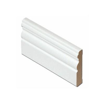 Jalkalista 12x70x3300 mm MDF valkoinen antiikki
