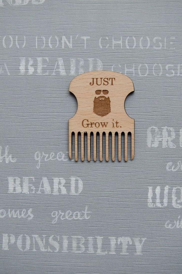 "Beard Comb - ""Just grow it"""