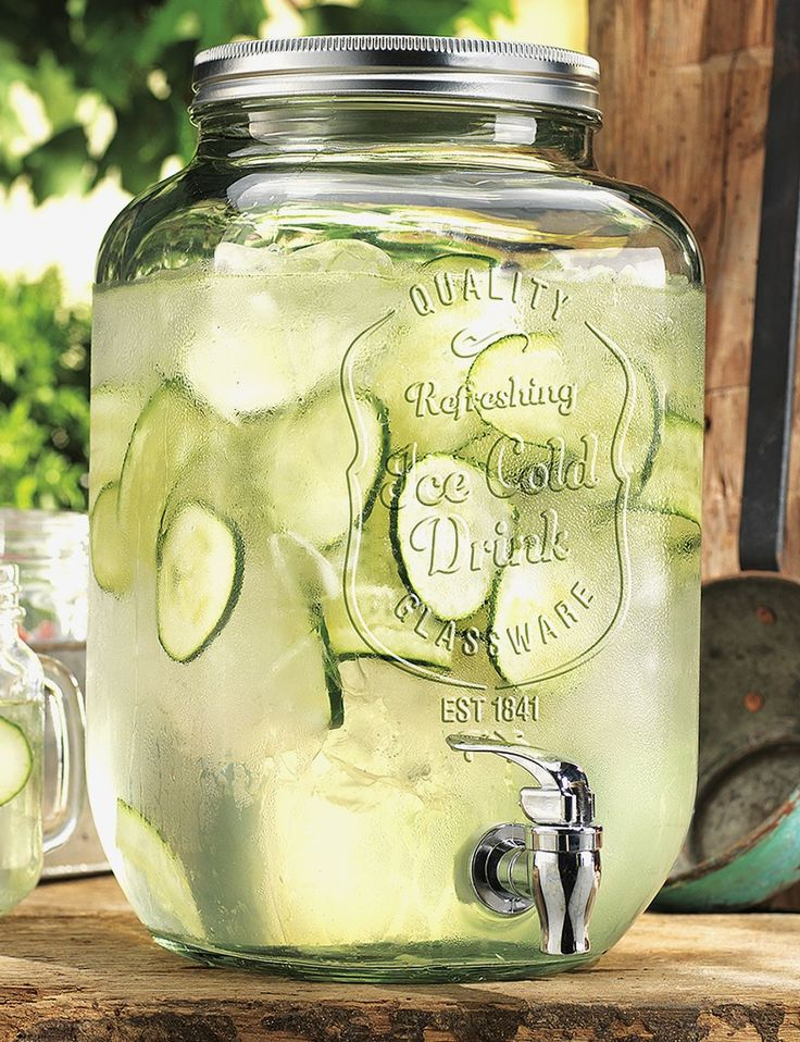 Home Essentials Mason Jar Drink Dispenser  I have 2 of these, maybe get a third one? Iced tea, lemonade and water?