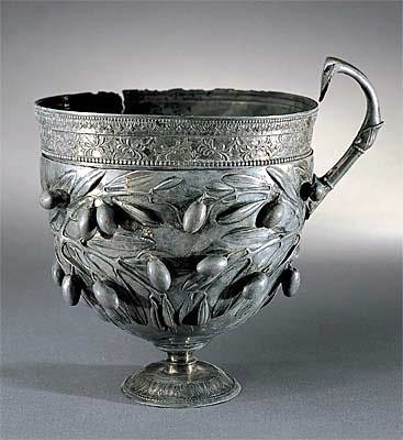 Drinking cup, silver, circa 50 BC, Pompei.