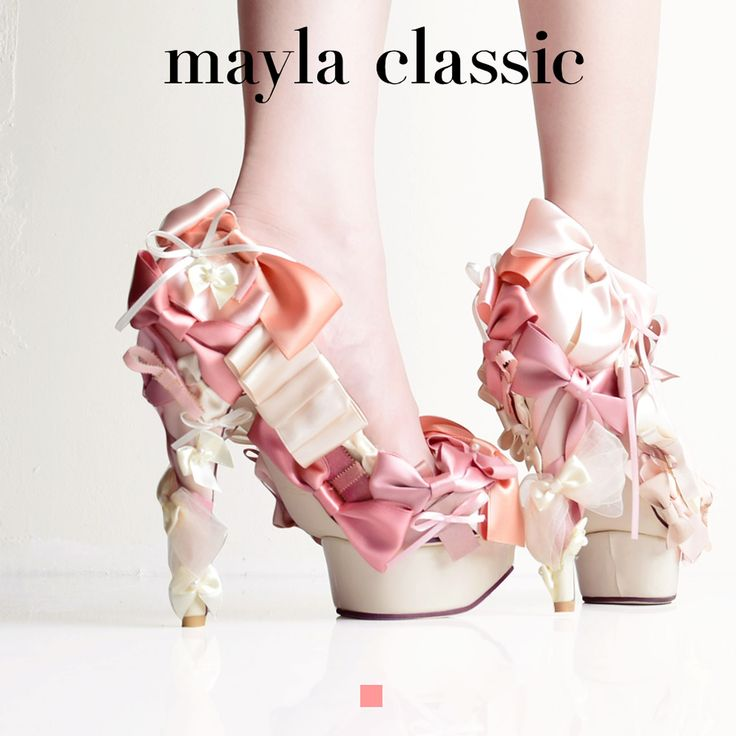 Meruborden 「スイートリボンのマリアージュをファジーカラーに乗せて…美味しいファションを召し上がれ」 #mayla_classic #pumps