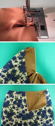How to make a lined skirt, tutorial