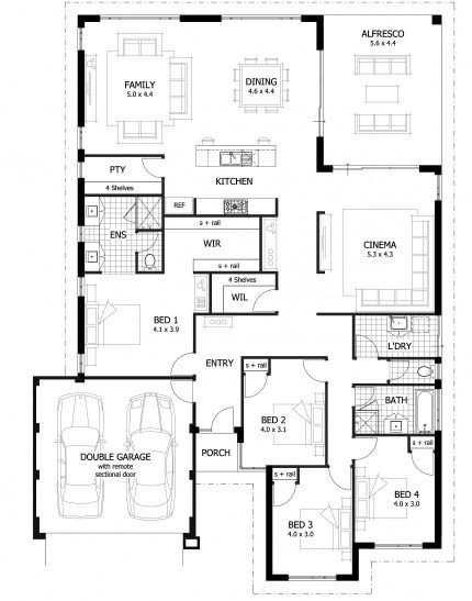 Blanchett Floor Plan - The Blanchett is contemporary design with a focus on rear open plan living and outdoor entertaining.