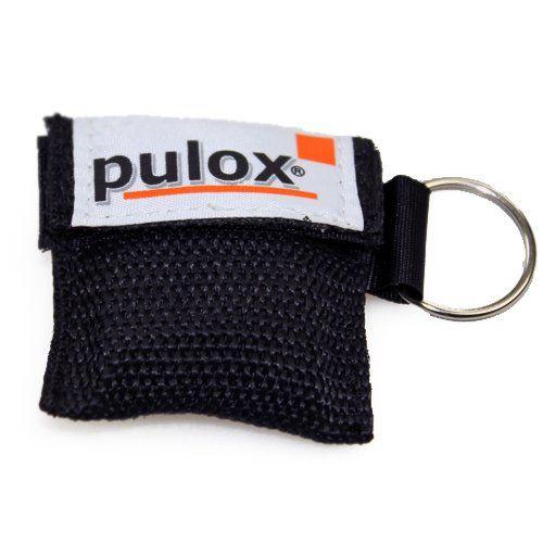 PULOX RESPI-Key Schlüsselanhänger Beatmungsmaske in schwarz
