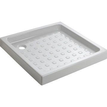Receveur de douche Nerea standard grès émaillé carré, 80 x 80 cm 47€