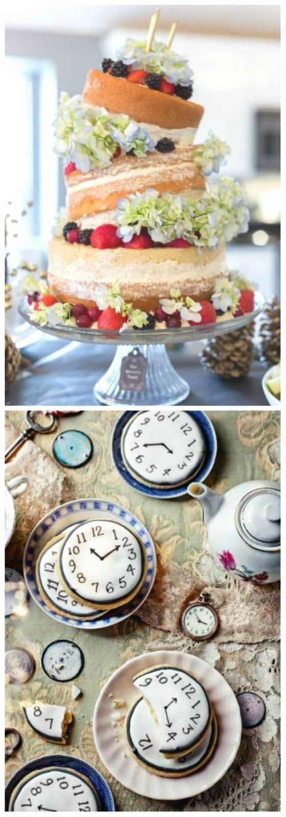 My inspiration? Tea party decor, of course! Lots of pretty vintage tea cups, fancy petitfours, roses, clocks, hats, bunnies and more!