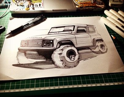 """Check out new work on my @Behance portfolio: """"Land Rover - Defender Sketch"""" http://be.net/gallery/44173115/Land-Rover-Defender-Sketch"""