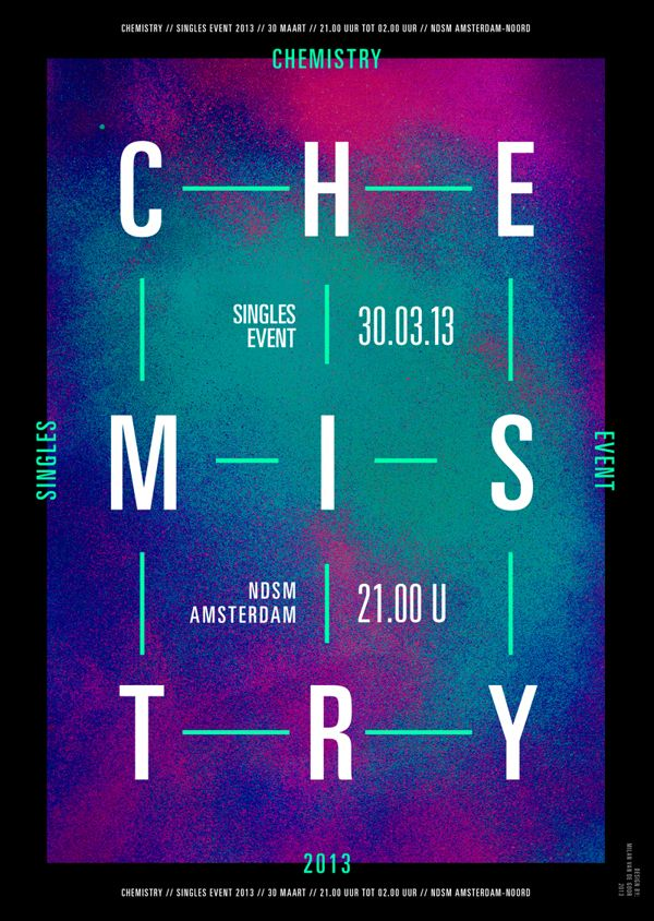 Chemistry | Dating Event by Milan van de Goor, via Behance
