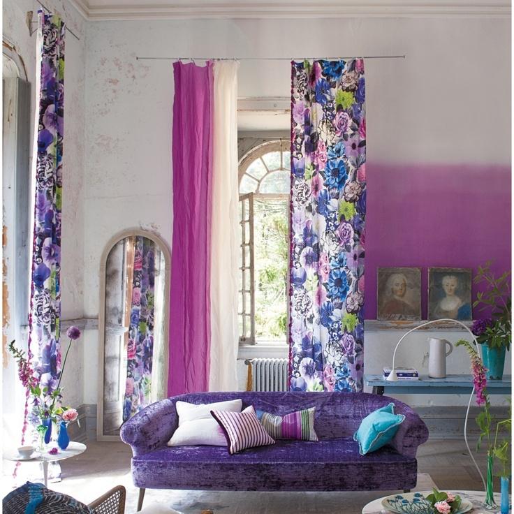 designers guild gardine oriana crocus einfach ma e. Black Bedroom Furniture Sets. Home Design Ideas