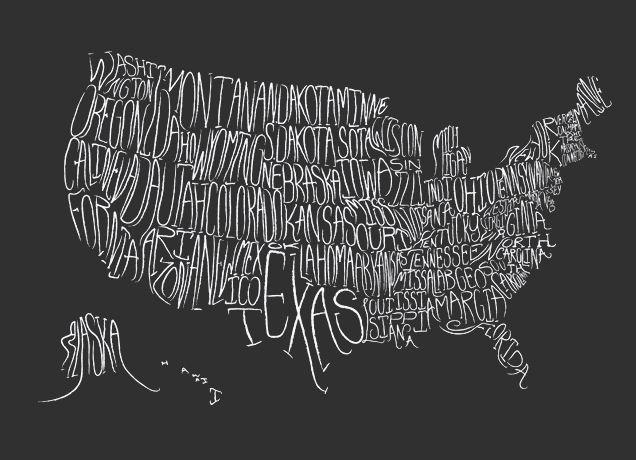 Hello, America.: Idea, Maps, Art, U.S. States, Usa, Design, United States