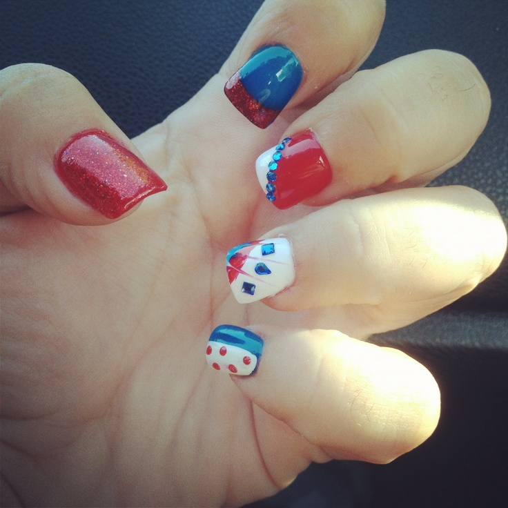 Nail art for the Olympic gold winning US women's national soccer team! - 88 Best Soccer Nails Images On Pinterest Soccer Nails, Sport