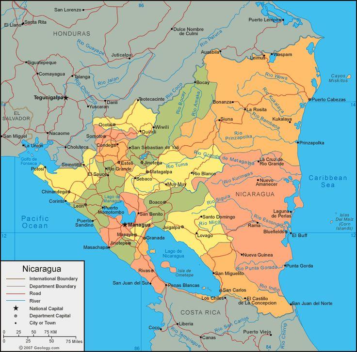 Best Latin America Political Map Ideas On Pinterest Latin - Nicaragua map download