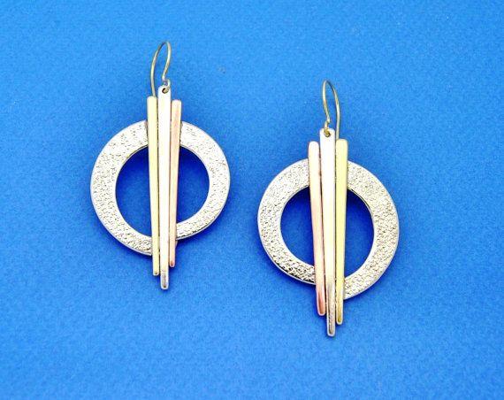 The Sun. Handmade Earrings. Silver Earrings. by GreeceJewelry