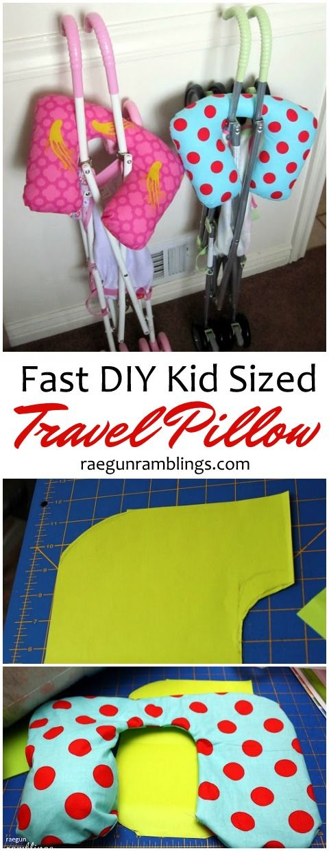 Great sewing tutorial. Made these up for the kids for the last family vacation and they came together FAST. Super easy and just the right size travel pillows for children