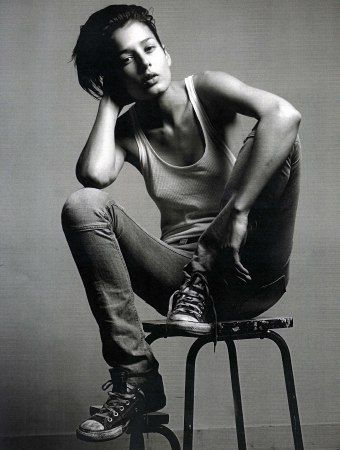 Like the slightly androgynous feel. Strong, effortlessly sexy. Sharan Bala.