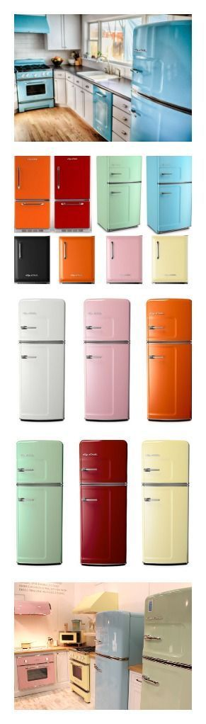 Big Chill of Boulder, Colorado, creates modern appliances with retro appeal. Their cool retro fridges comes in eight colors—and more than 200 custom shades. Click to discover more today! #Retro #BigChill #HomeAppliancesColor