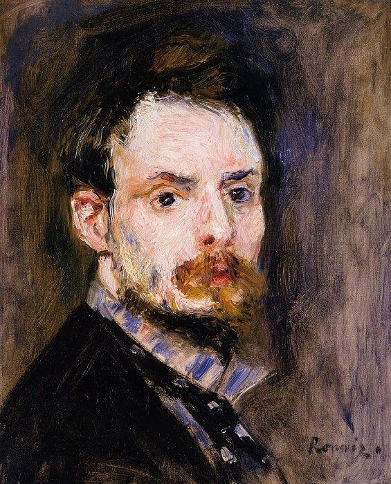 Self Portrait  -  1875. Пьер Огюст Ренуар