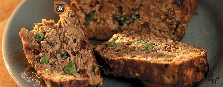 Pain de Veau de grain du Québec au feta, aux olives et aux champignons