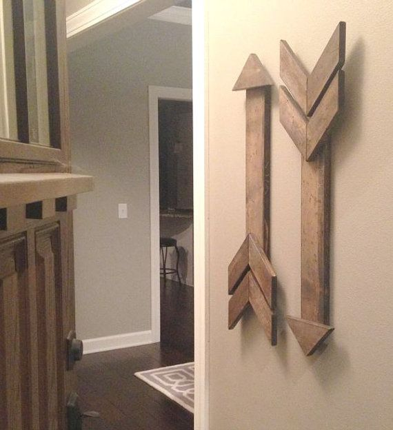 Rustic Wooden Arrow Gallery Wall Arrow by FaithInspired5 on Etsy
