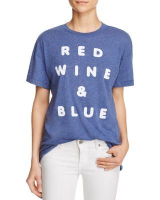 WILDFOX Red Wine and Blue Tee | Bloomingdale's