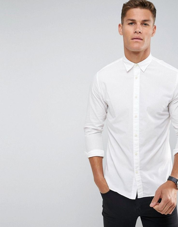 Selected Homme Slim Oxford Shirt - White