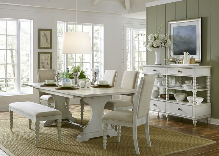 Harbor View Iii Extendable Trestle Dining Table Dining