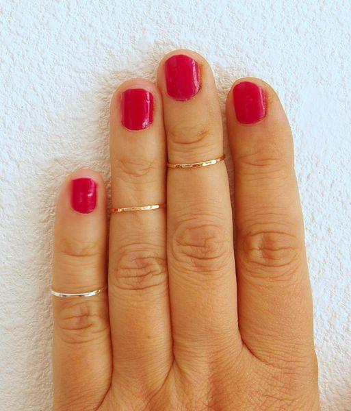3 above knuckle ringen midi ringen stapelringen van Ambachtelijke handgemaakte stapelringen en armbanden op DaWanda.com