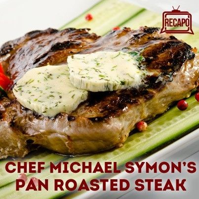 The Chew's Michael Symon prepared a Pan Roasted Ribeye Steak Recipe, restaurant-style, complete with a side of Corn Succotash containing bacon.