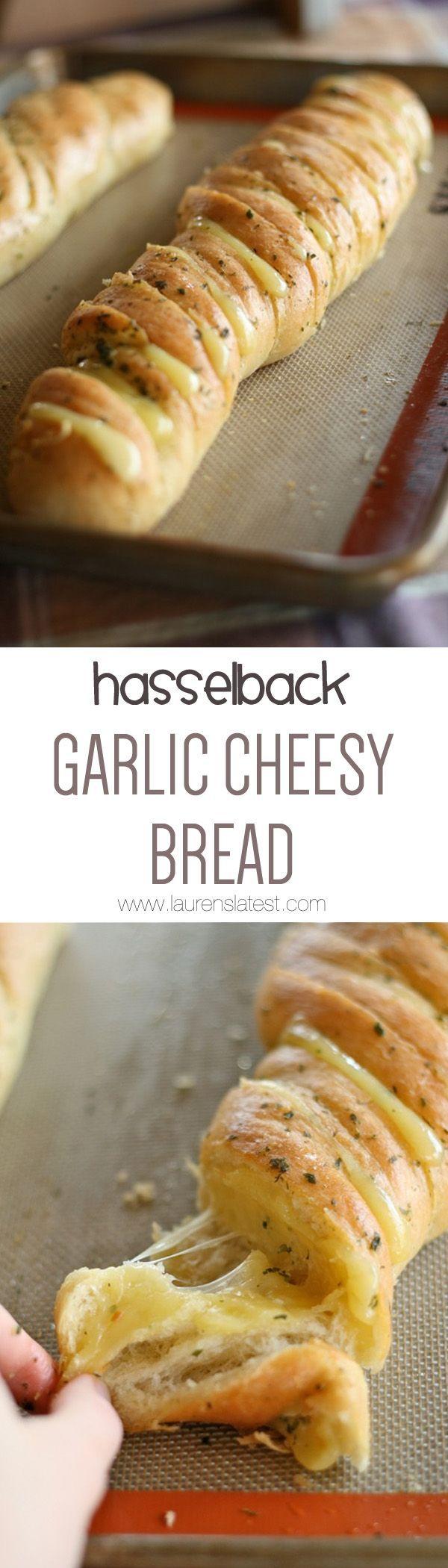 Hasselback Garlic Cheesy Bread! It's the bomb {dot} com.