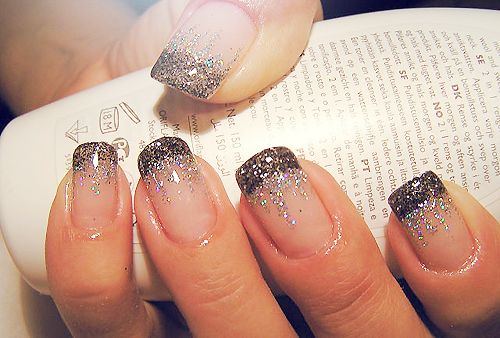 Nails Art, French Manicures, Nails Design, Sparkle Nails, Glitter Nails, Glitter Tips, French Tips, New Years Eve, Sparkly Nails