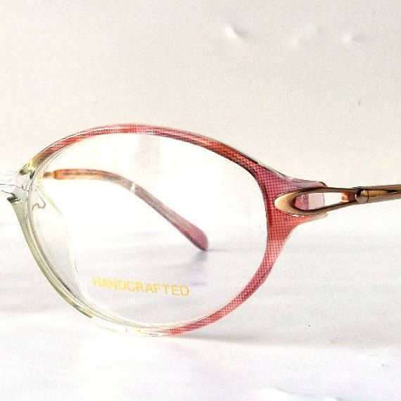 vintage 90's NOS dark pink ombre dots gold by RecycleBuyVintage