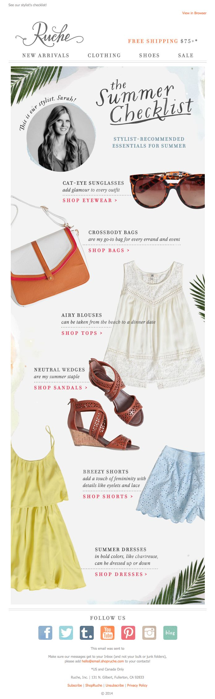 Ruche   newsletter   fashion email   fashion design   email   email marketing   email inspiration   e-mail
