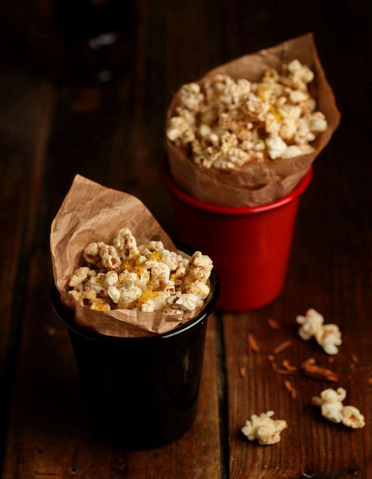 #Palomitas caramelizadas con especias #Canela #Caramelo #Cine