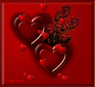 Beautiful animated gif hearts hearts and roses roses - Pics of roses and hearts ...